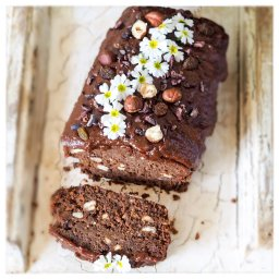 Gluten free chocolate hazlenut log