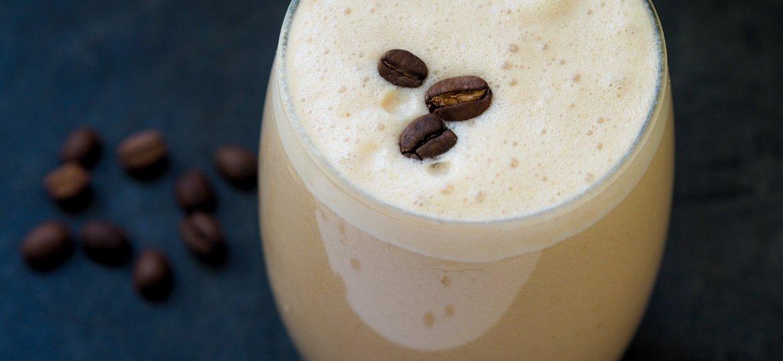 Tahini caramel iced latte