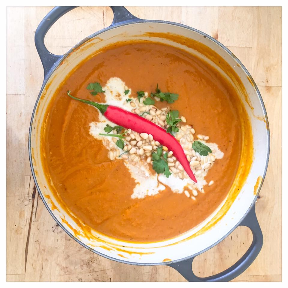 Thai inspired nutty pumpkin soup