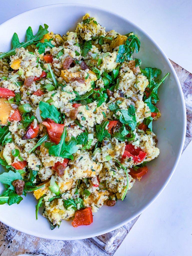 Roast pumpkin cous cous salad