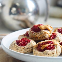 Peanut Butter and Jam Drop Cookies
