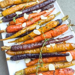 maple glaze carrots