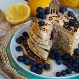 Lemon and berry pancakes