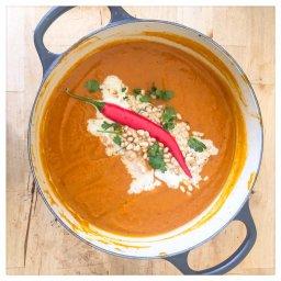 Thai inspired nutty pumpkin soup